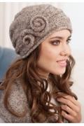 Комплект (шапка+шарф) коричневого цвета Landre Тамара