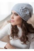 Женская шапка голубого цвета Landre Габи