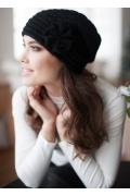 Женская шапка чёрного цвета Landre Сонэт