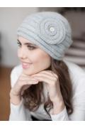 Женская шапочка Landre Франческа серого цвета