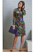 Трикотажное платье TopDesign B4 044 (осень-зима 14/15)