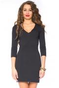 Чёрное короткое платье Donna Saggia DSP-78-4t