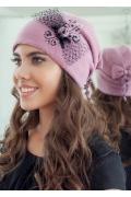 Тёмно-розовая шапка Landre Урсула