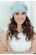 Женская шапка голубого цвета Landre Верона