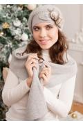 Серый комплект (берет и шарф) Landre Шармель