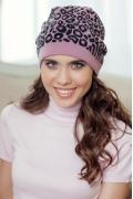 Женская шапка Landre Саванна (темно-розовый/графит)