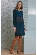 Прямое платье с длинным рукавом Top Design B4 076