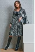 Чёрно-белое платье TopDesign B4 050