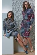 Трикотажное платье TopDesign B4 001