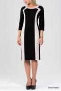 Чёрно-белое платье Emka Fashion 1015-lobelia