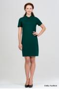 Платье с воротничком Emka Fashion 2037-izumrud