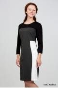 Чёрно-белое платье Emka Fashion 1004-arabis