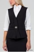 Чёрный офисный жилет Emka Fashion GL-007/bambina