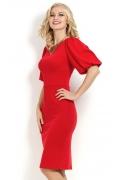Красное платье с объемным рукавом Donna Saggia DSP-169-29t