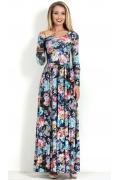 Длинное трикотажное платье Donna Saggia DSP-69-63t
