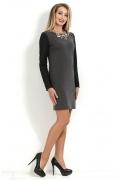 Короткое платье с длинным рукавом Donna Saggia DSP-162-72t