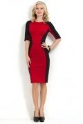 Очень красивое черно-красное платье Donna Saggia DSP-163-29t