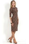 Клетчатое платье-футляр Donna Saggia DSP-154-64t
