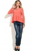 Блузка персикового цвета Donna Saggia DSB-24-31t