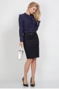 Красивая тёмно-синяя юбка Emka Fashion 354-rolana