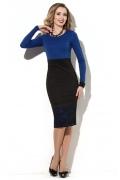 Черно-синее платье Donna Saggia DSP-126-37t