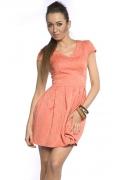 Коктейльное платье персикового цвета Donna Saggia DSP-49-39