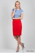 Юбка красного цвета Emka Fashion 498-venedita