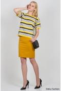 Юбка горчичного цвета Emka Fashion 480-femida