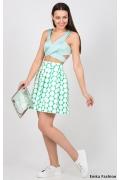Бело-зеленая юбка Emka Fashion 475-mia