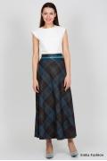 Длинная юбка в клетку Emka Fashion 314-samira
