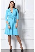 Голубое трикотажное платье Remix | 1584