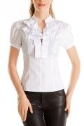 Белая блузка Golub с коротким рукавом | Б746-724