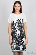 Бело-чёрное платье Emka Fashion PL-419/zoryana