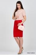 Юбка красного цвета Emka Fashion 533-galateya