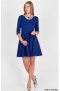 Летнее платье синего цвета Emka Fashion PL-411/pavlina