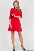 Платье красного цвета Emka Fashion PL-411/joanna