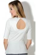 Белая блузка с вырезом на спине Donna Saggia DSB-01-2t