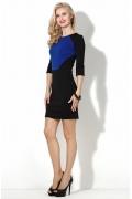 Короткое чёрно-синее платье Donna Saggia DSP-50-37t
