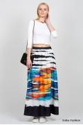 Длинная летняя юбка Emka Fashion 534-rein