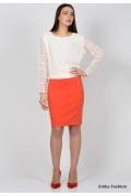 Оранжевая юбка Emka Fashion 391-alana