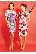Летнее трикотажное платье TopDesign A5 071