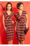 Чёрно-красное платье TopDesign A5 106