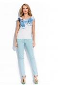 Блузка с синими цветами Sunwear R67-2