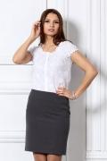 Белая повседневная блузка / 4615