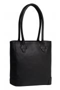 Практичная кожаная сумка чёрного цвета Trendy Bag Macao