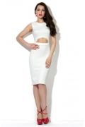 Платье белого цвета Donna Saggia DSP-174-40t