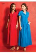Длинное платье с рубашечным воротом TopDesign A5 089