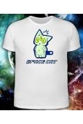 Мужская футболка-хамелеон Space Cat