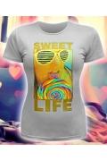 Стильная женская футболка Sweet Life (спецэффект - Блестки)