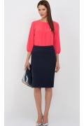 Тёмно-синяя юбка Emka Fashion 202-renata